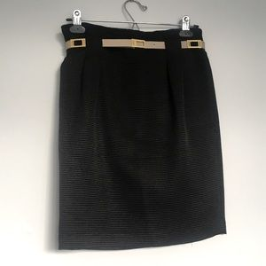 Vintage Valentino Miss V Black Skirt